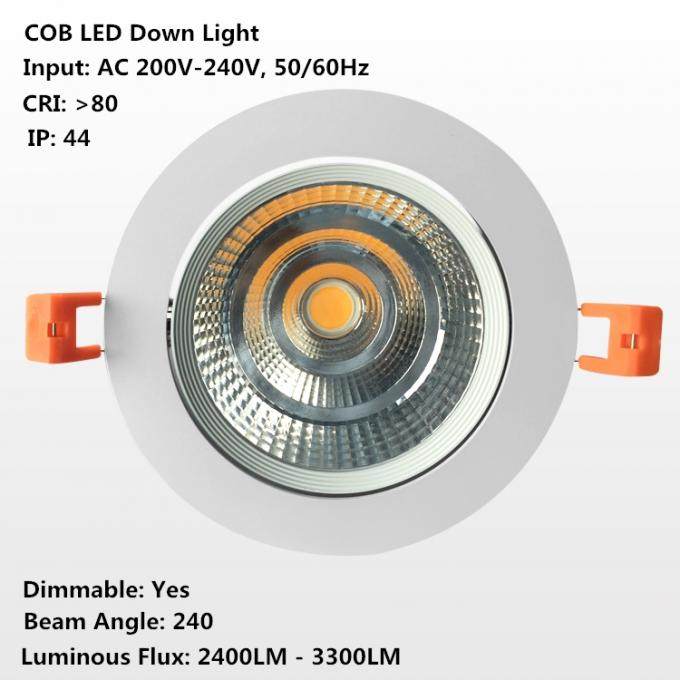 30W / el microprocesador Dimmable de 35W/de 40W Epistar llevó Downlights, ajustable, giratorio