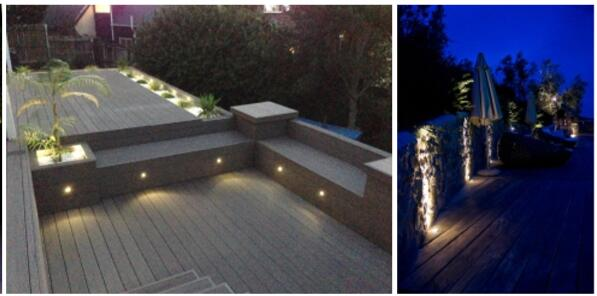 el paso al aire libre de 1W LED enciende 3000K DC12V/luces materiales de la escalera del acero inoxidable LED